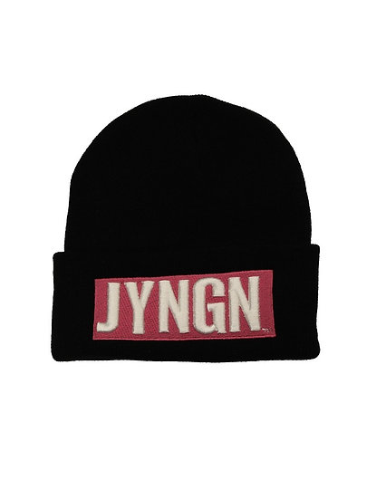 Black/Pink/White JYNGN Beanie