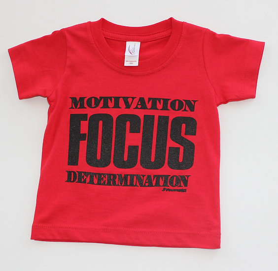 Infant Red Motivation Focus Tee