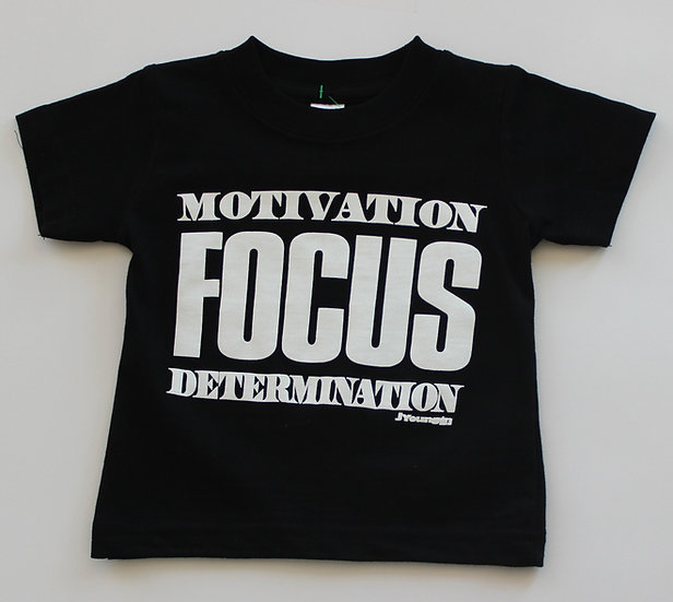 Infant Black Motivation Focus Tee