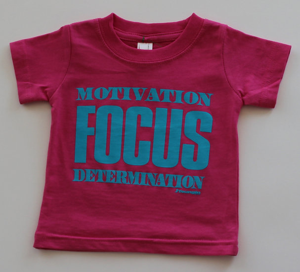 Infant Pink Motivation Focus Tee