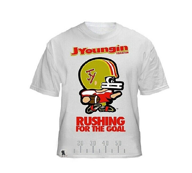JYOUNGIN RUSHING FOR THE GOAL FOOTBALL TEE