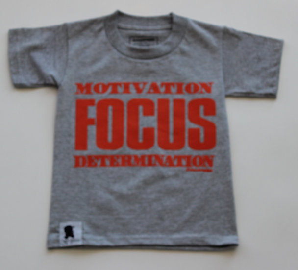 """HEATHER""- GREY FOCUS TEE"