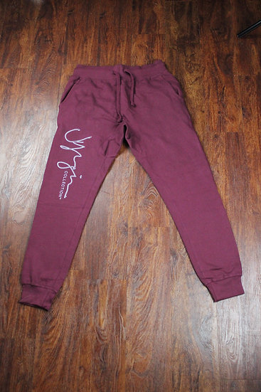JY COLLECTION BURGUNDY JOGGERS