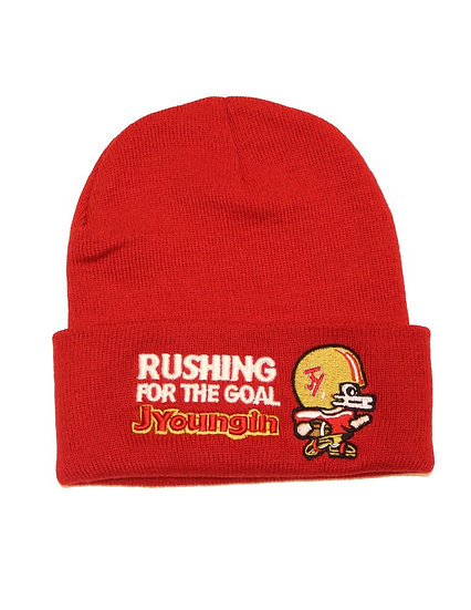 JYoungin 9ers Red Beanie