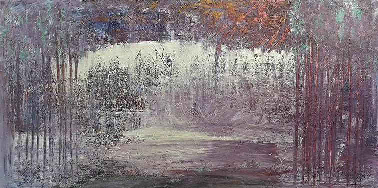 """SOLD_Johnson-Nostalgia-Mixed Media on Canvas-15x30x1.5"""""""
