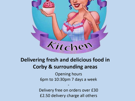 The launch of our take away service in CORBY Friday 10th April 2020