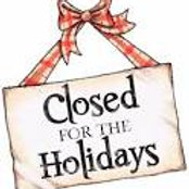 Closed For Christmas Until January 16, 2020