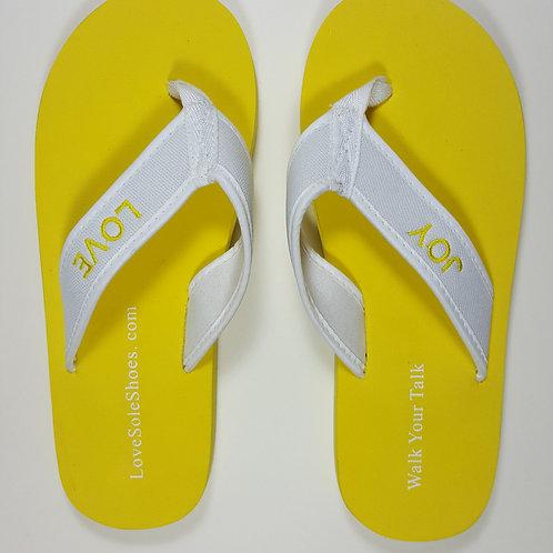 Love/Joy Flip Flops ~ Yellow