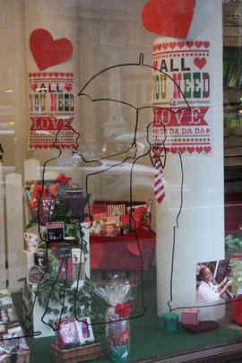 VALENTINE'S STORE FRONT WINDOW