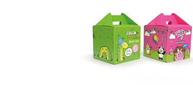 COLIN THE CATERPILLAR & PERCY PIG PARTY BOXES