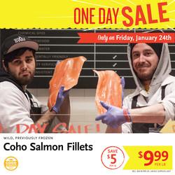 Coho Salmon One Day Sale