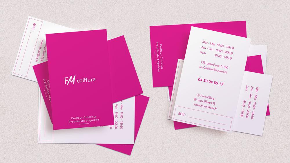 Cartes de visite FM Coiffure