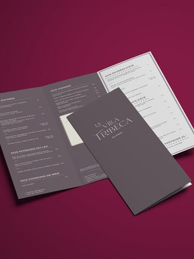 Menus restaurant et carte des vins