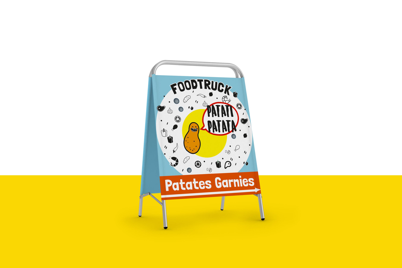 Panneau publicitaire & Illustration
