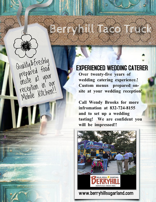 Taco Truck Weddings - Made with PosterMy