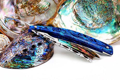 Max Sprecher Razors・ 8/8・Barber's Notch・Blue Paua・Made in USA