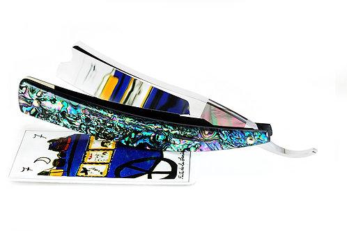 Max Sprecher Razors・9/8・Barber's Notch・Black-Lip・Abalone・Made in USA