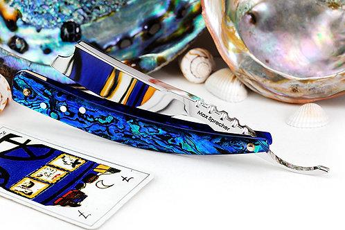 Max Sprecher Customs・8/8・Barber's Notch・Blue Paua・Made in USA