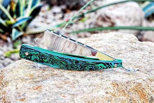 Max Sprecher Razors・8/8・Spanish Point・Gold-Lip ・ Green Abalone・Made in USA