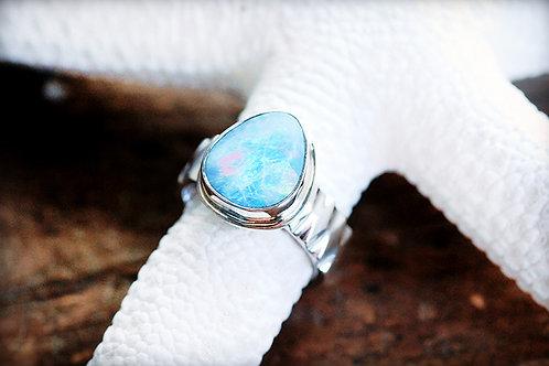 Max Sprecher Jewelry - Australian Opal Doublet Silver Ring