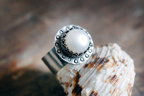 Max Sprecher Jewelry - Freshwater Pearl Silver Ring