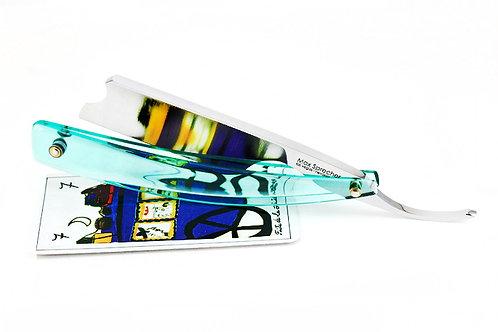 Max Sprecher Razors・8/8・Barber's Notch・Aqua Glass・Made in USA