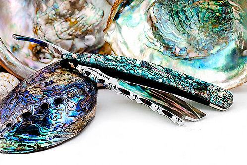 Max Sprecher Razors8/8・Barber's Notch・Abalone・Made in USA