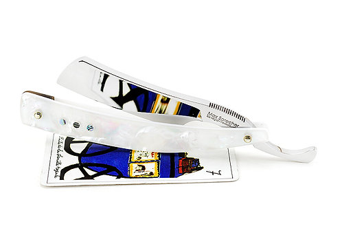 Max Sprecher Razors・7/8・Irish Point・White Mother Of Pearl・Made in USA