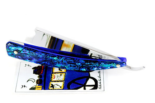 Max Sprecher Razors・8/8・Barber's Notch・Blue Paua・Made in USA