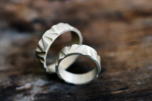Max Sprecher Handmade Carved Sterling Silver Ring Made in USA