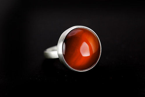 Max Sprecher Jewelry -  Carnelian Sterling Silver Ring