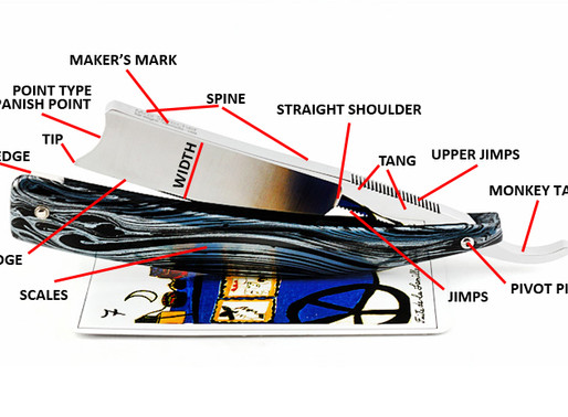 Anatomy Of A Straight Razor: Terminology, Definitions & Diagrams