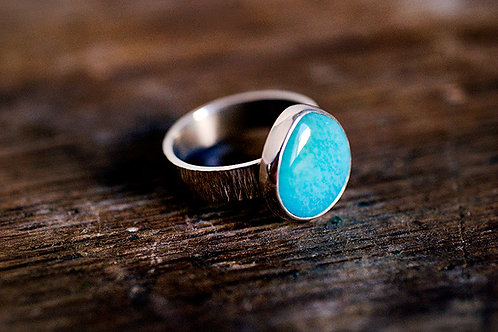Max Sprecher Jewelry - Teardrop Turquoise Silver Ring