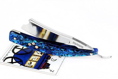 Max Sprecher Razors・9/8・Barber's Notch・Blue Paua・Brass Inlay・Made in USA