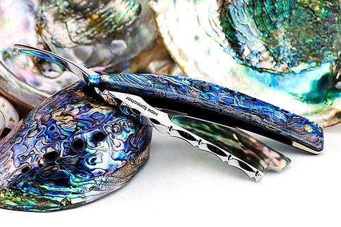 Max Sprecher Razors・9/8・Midi・Barber's Notch・Paua・Made in USA