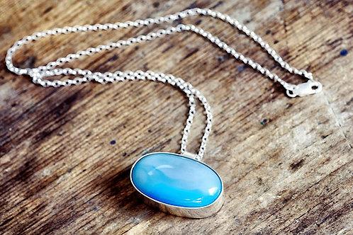 Max Sprecher Jewelry - Blue Botswana Chalcedony Silver Pendant