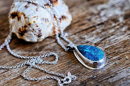 Max Sprecher Jewelry -  Shattuckite Sterling Silver Pendant