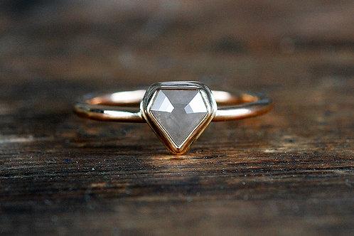 Max Sprecher Jewelry - 14K Yellow Gold Rose Cut Diamond Engagement Ring