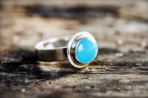Max Sprecher Jewelry - Oval Turquoise Silver Ring