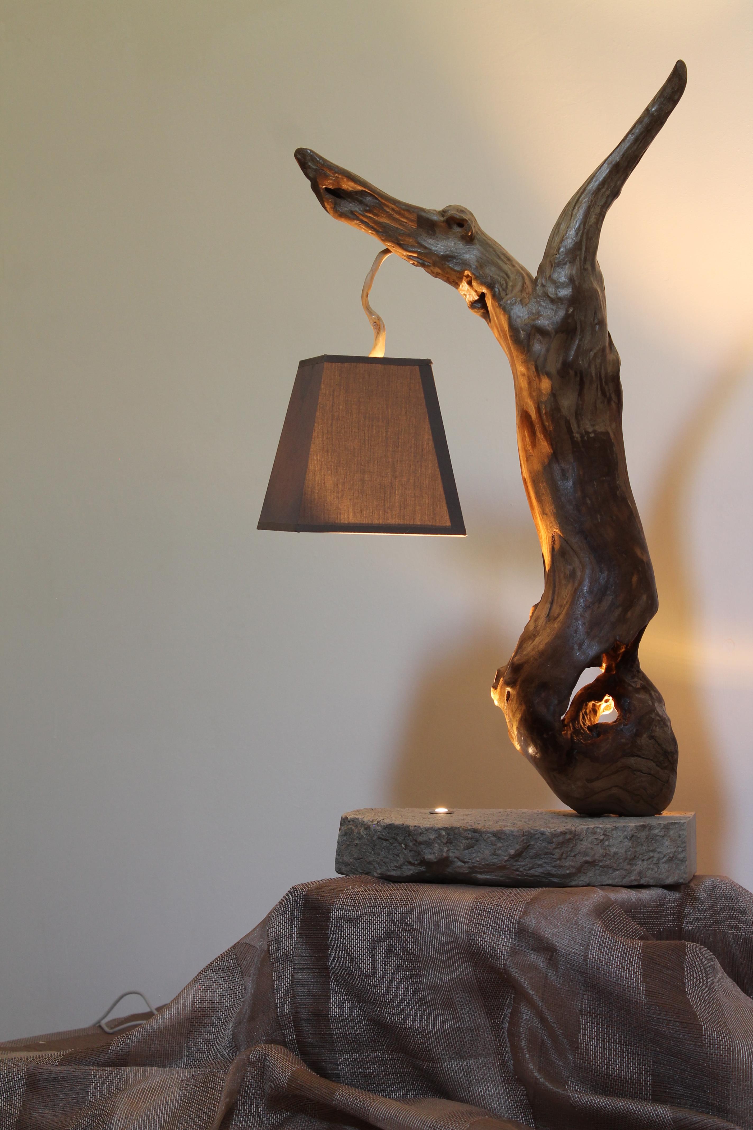Legnointesta Lampade Artigianali In Legno Di Mare Lampade Da Tavolo