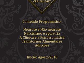 Grupo de Estudos - A Psicanálise e a Clínica Contemporânea