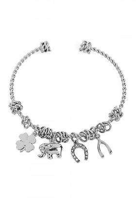 Feelin' Lucky Charm Bracelet (Silver)