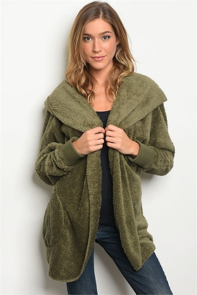 Olive Fleece Jacket