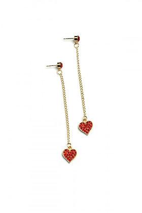 Heart-Shape Chain Drop Earrings