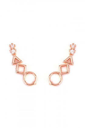 Rose Gold Crawler Earrings