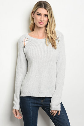 Light Gray Pullover Sweater