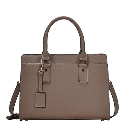 Dark Taupe Satchel