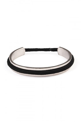 Silver Hair Tie Bangle