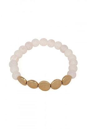 White Natural Stone Bracelet