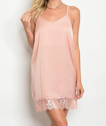 Blush Lace Slip Dress